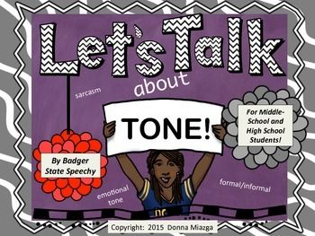 Teaching and interactive activities for middle and high school students on sarcasm, emotional tone and formal/informal tone.