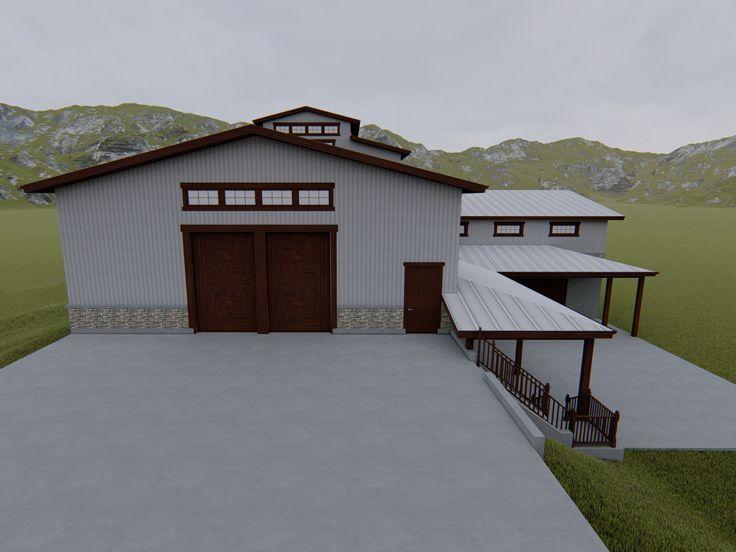 065g 0006 Unique Garage Plan For A Sloping Lot Garage Plans Garage Garage Plan