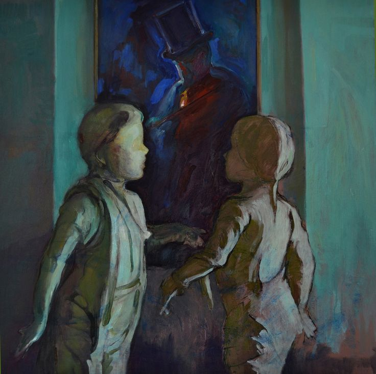 El sueño del violín, óleo-lienzo, 73x73 cm.