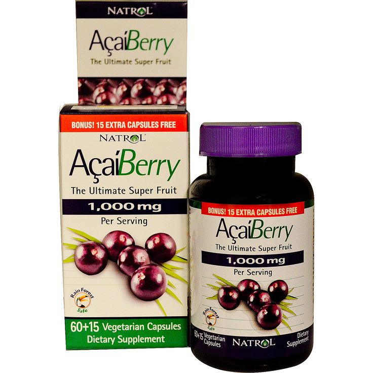 Natrol, AcaiBerry, The Ultimate Super Fruit, 75 Veggie Caps