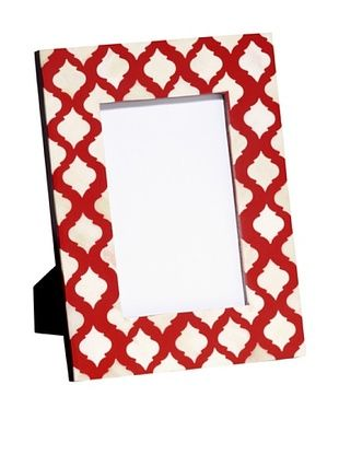 67% OFF Mela Artisans Inlaid Bone Lattice Photo Frame, Terra Cotta, 4