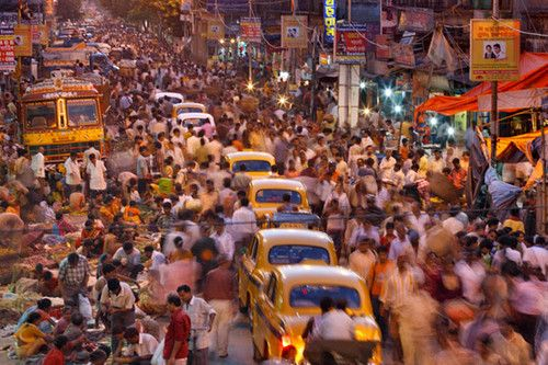 india crowded streets