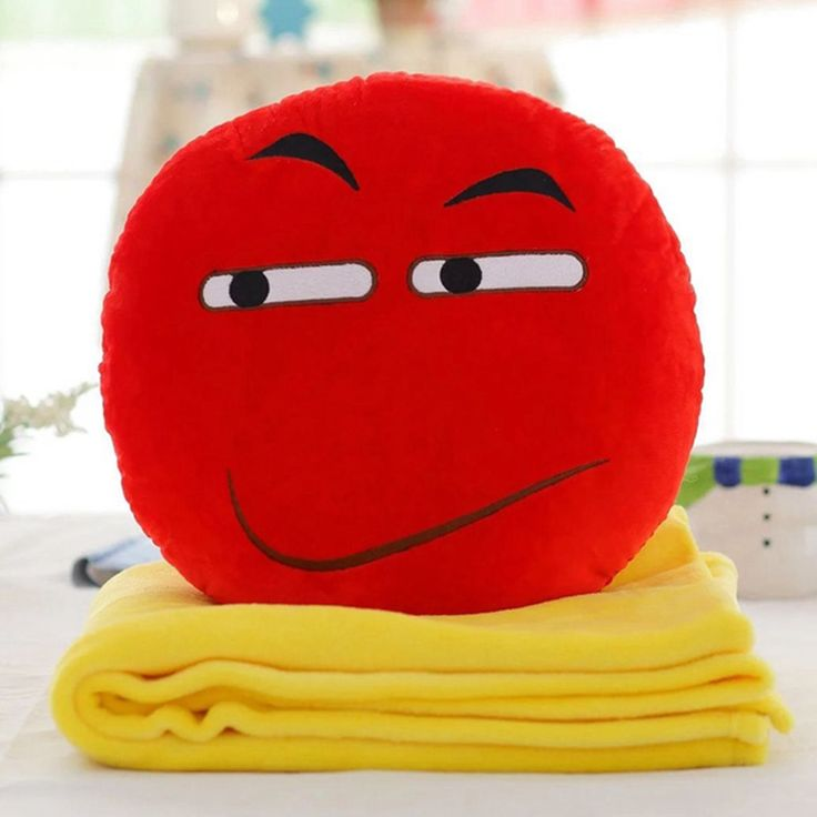 BH Toys Expression Angry Face Emoji Plush Hand-warming Pillow with Blanket