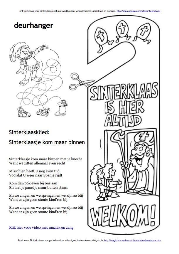 25 Best Sint Werkboek Werkbladen Puzzels Kleurplaten En