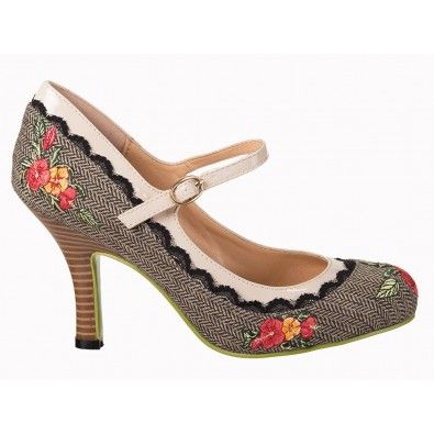 Chaussures Escarpins Pin-Up Rockabilly 50's Mary Jane Girl Loves Me