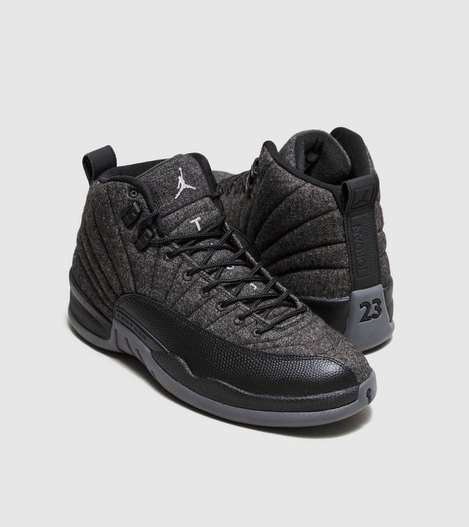 NEW Nike Air Jordan 12 Retro XII Wool Dark Grey Metallic Silver Black  852627-003