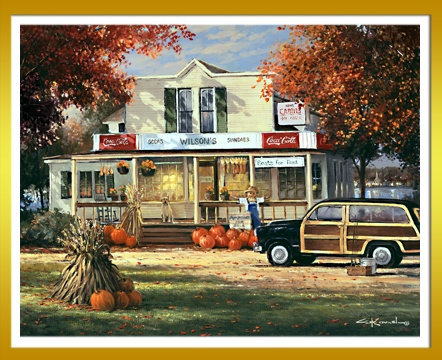 Cozy Fall Wallpaper Wilson S On The Lake George Kovach Fall Vintage Woodie