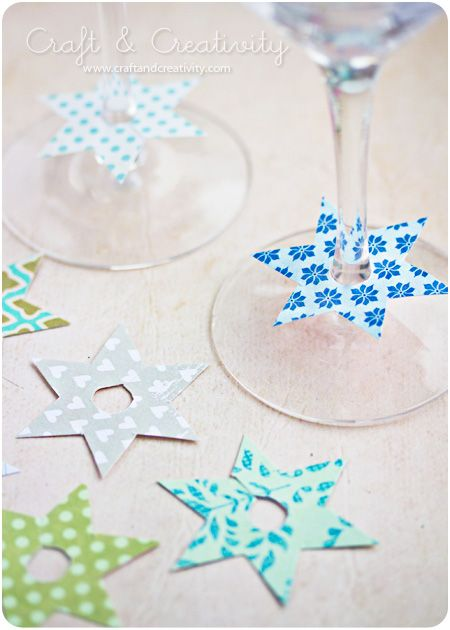 Great DIY idea for cheaply identifying your guest's wine glass. (The web site NOT in English, but the pictures say all!)