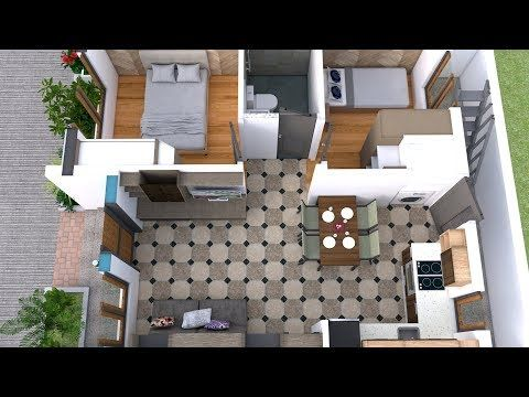 House Plans With Two Bedrooms 22x30 Feet This Villa Is Modeling By Sam Architect With One Story Level It S Simple House Plans Small House Design House Plans,Small Bedroom Arrangement Designs