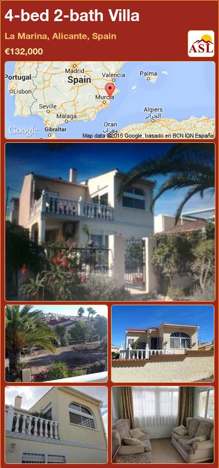 4-bed 2-bath Villa in La Marina, Alicante, Spain ►€132,000 #PropertyForSaleInSpain