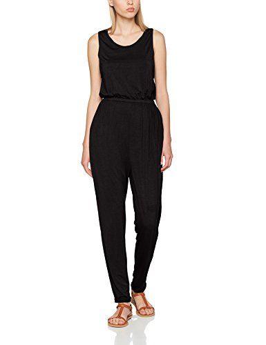 d13babc39e3a khujo Damen Jumpsuit NECY Basic Stretch Pants Schwarz (Black 200) 44  (Herstellergröße