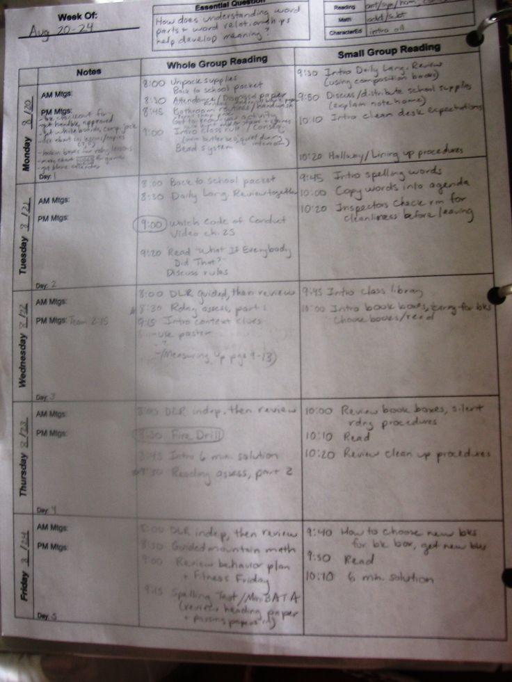 Best Lesson Plans Images On   School Lesson Plan