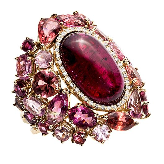 Tourmaline is a vivacious, deeply colorful October birthstone.