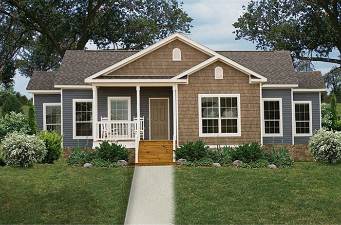 The Waterford Manor is a modular home with a number of features. Nice porch! 1608 sq.ft • 3 Beds • 2 Baths