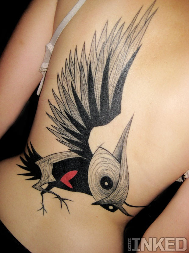 Usually don't like these style tattoos but this one is oddly compelling to me