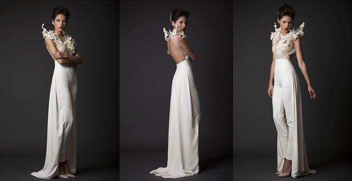 Брючный костюм: свадебный наряд недели по версии Ivetta