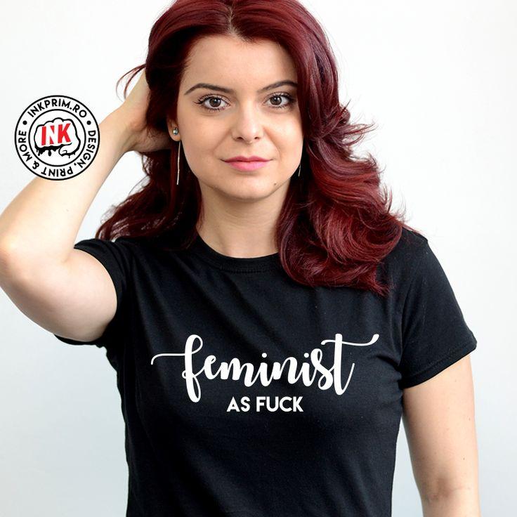 Tricou personalizat cu mesajul Feminist AF