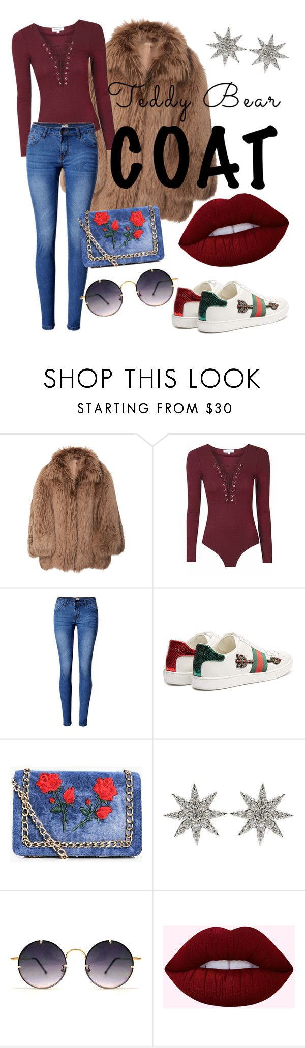 """""""sassy teddy bear"""" by alifia-fae on Polyvore featuring Michael Kors, WithChic, Gucci, Boohoo, Bee Goddess and Spitfire"""