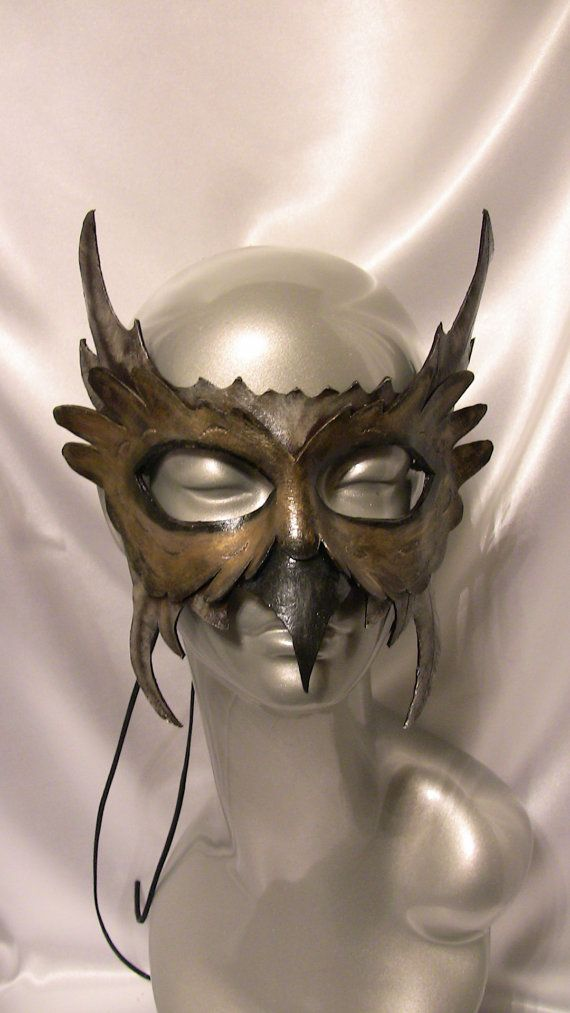 Owl Leather Mask - etsy.com  Gorgeous Mask I wouldn't mind wearing for Halloween <3