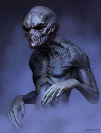 Alien Art Gallery | Greys - Grey-Alien-Concept-Art photo medium - UFO and Aliens Gallery