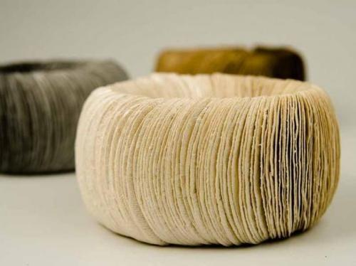 Barcelona-based artistAna Hagopian, paper jewelry