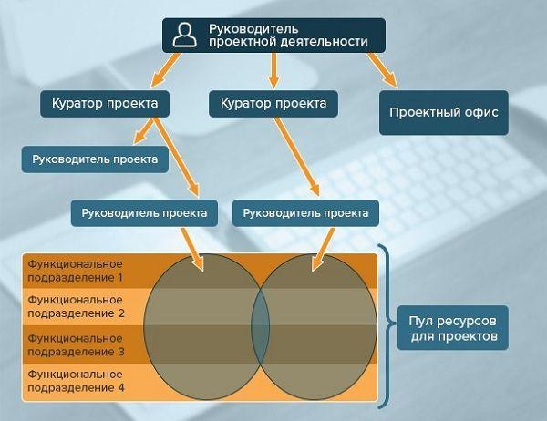 Овалами наглядно показана гибкость и динамичность проектов