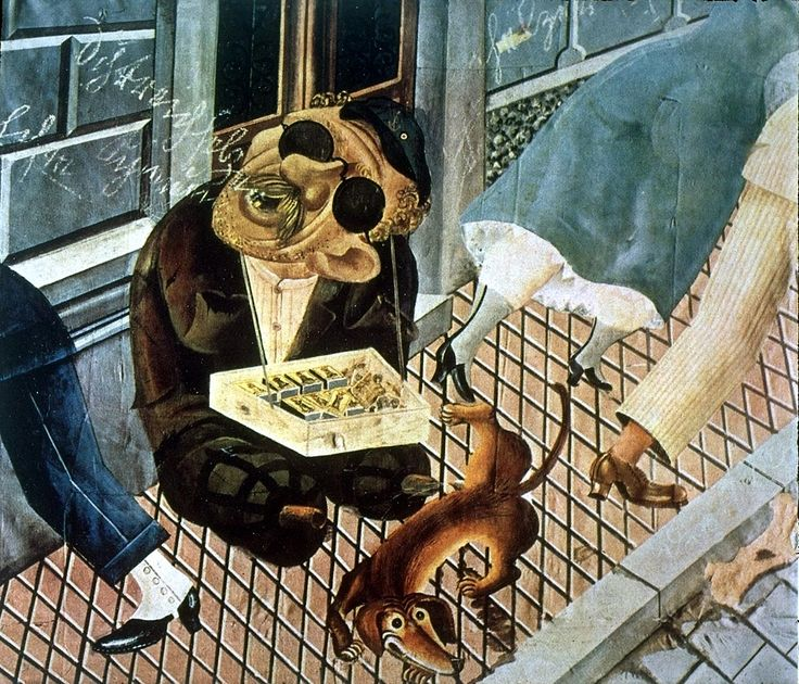 "Otto Dix ""The Match Seller"""