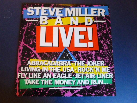 Steve Miller Band Live Vinyl Record ST-12263 Capital by mdgiftart