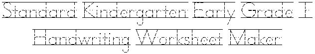 Free worksheet maker for children learning their alphabet.  Amy says--THIS IS AWESOME--TYPE IN THE WORD and it prints out a writing practice page!