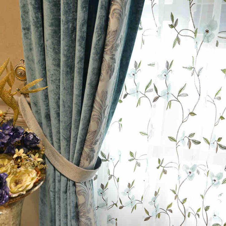 cheap estilo palacio de lujo por encargo chenille tela de la cortina del apagn italiano bordado