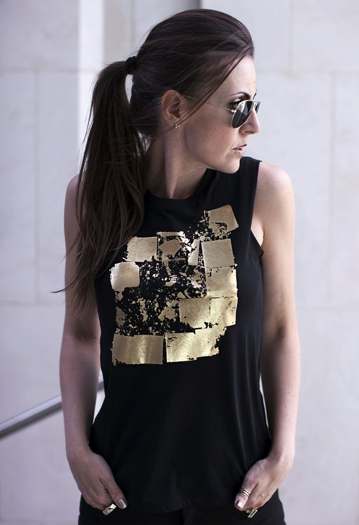 Seymour Black & Gold Top | Free Worldwide Delivery | Urban Gilt