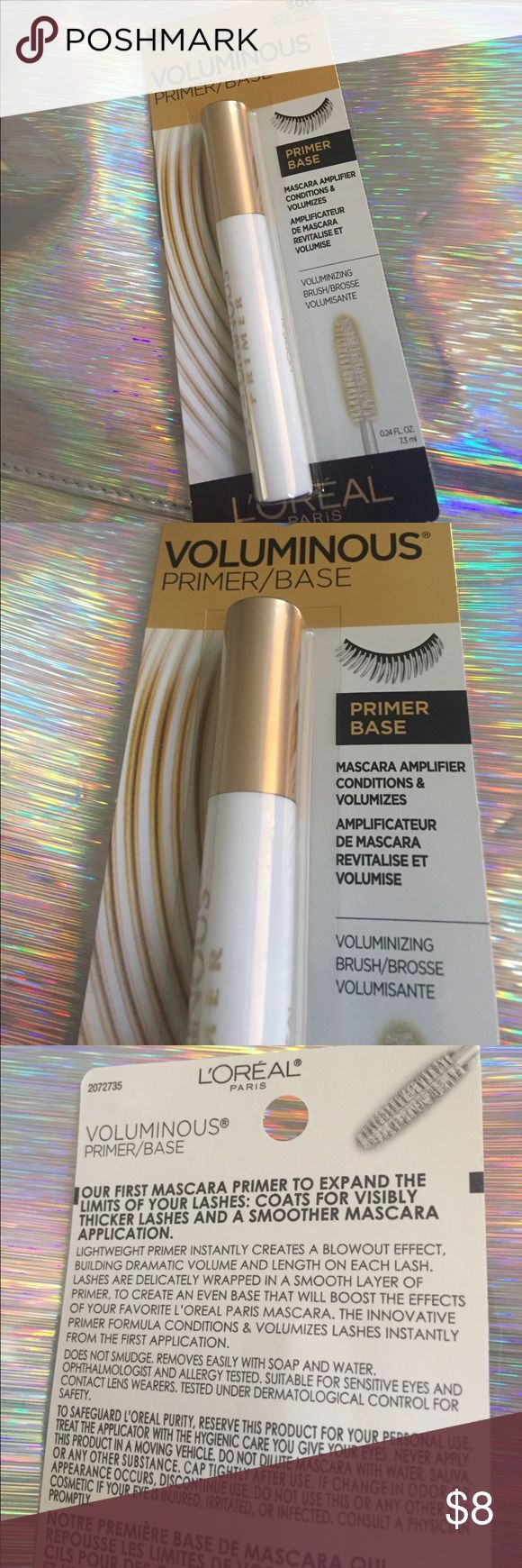 Loreal voluminous primer base mascara New in packaging Loreal Makeup Mascara