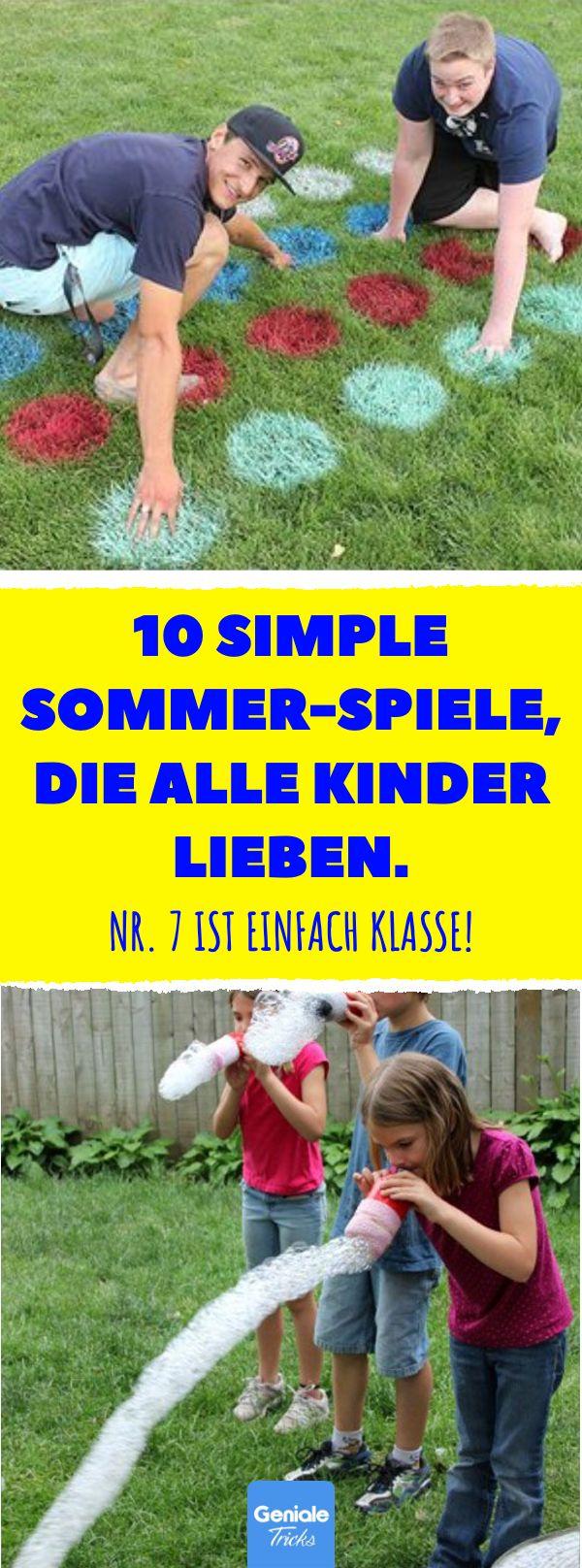 10 simple Sommer-Spiele, die alle Kinder lieben. Nr. 7 ist einfach klasse! Kreat… – Geniale Tricks