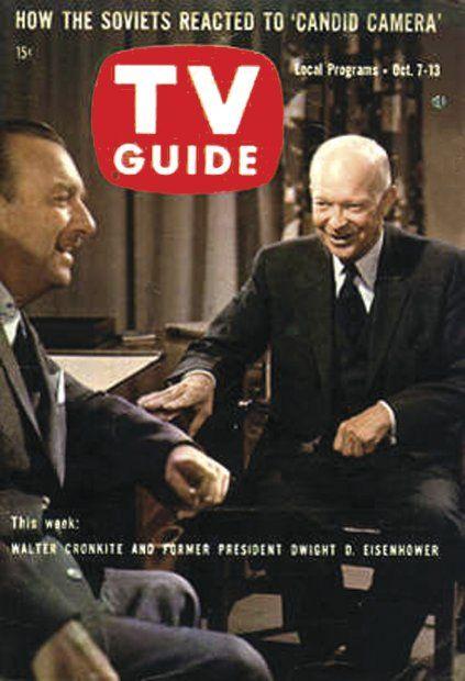 TV Guide: October 7, 1961- Walter Cronkite and Former President Dwight D. Eisenhower