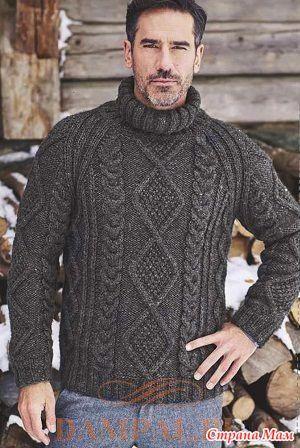 4e2bba6d5ea8 Теплый мужской свитер «Vosges» - Вязание - Страна Мам | в'язання_для ...