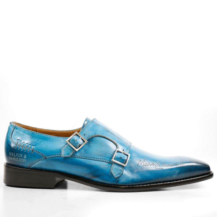 Monk Schuhe Clark 12 Crust Bluette Lasercut M&H LS