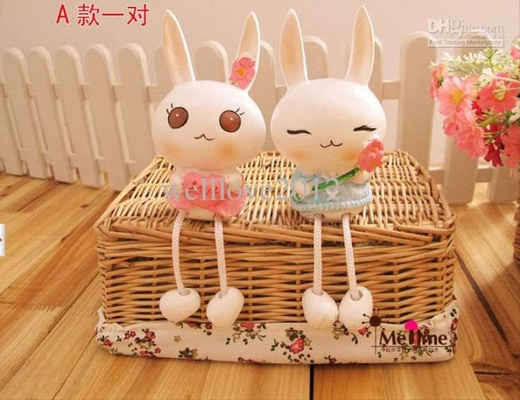 Hot Sale Handmade Crafts Shy Miffy Rabbit Furnishing Articles Home 2015