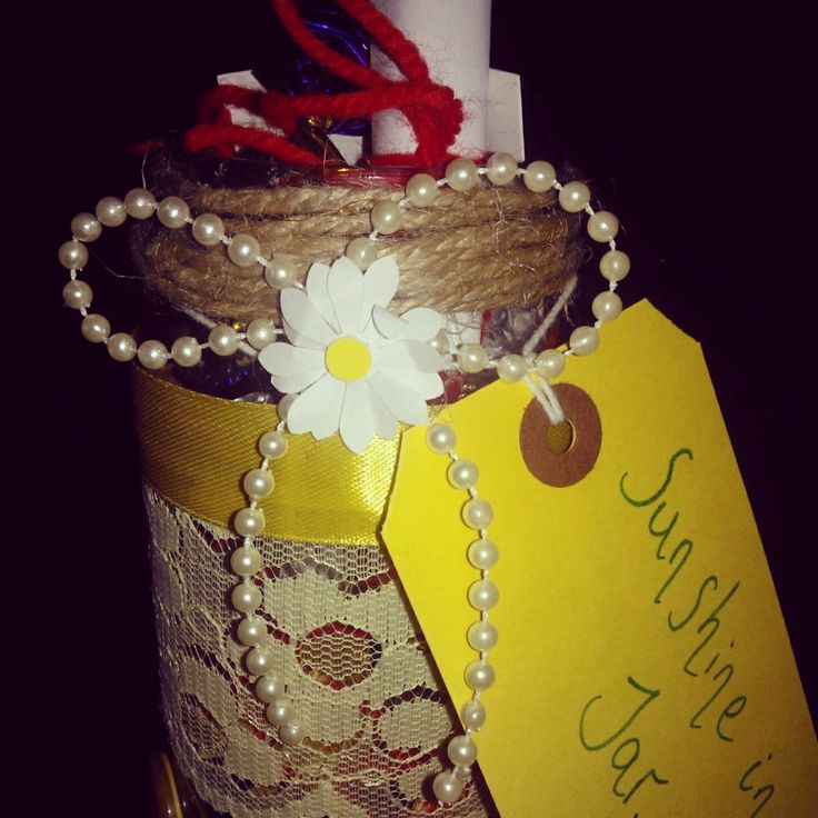 Let someone special know they are your sunshine- Sunshine In A Jar