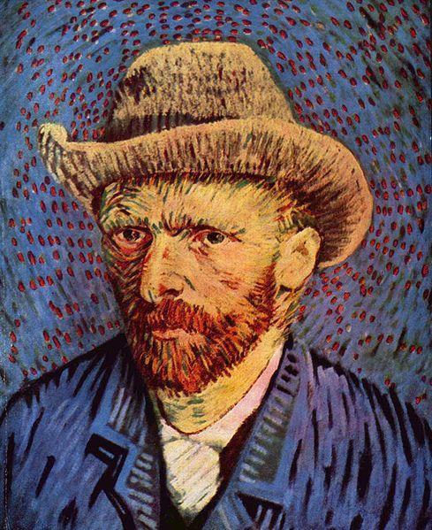 Self-Portrait with Felt Hat ~ Vincent van Gogh 1888