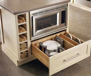 Charming Universal Design Kitchen   Great Cabinet For Accessing Dishes And Handy Microwave  Placement. Part 24