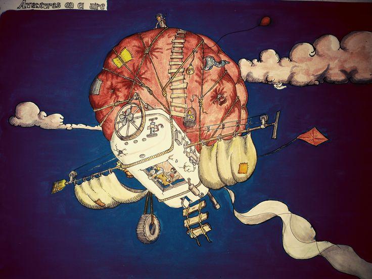 aventura en las alturas, dibujo , by tony.