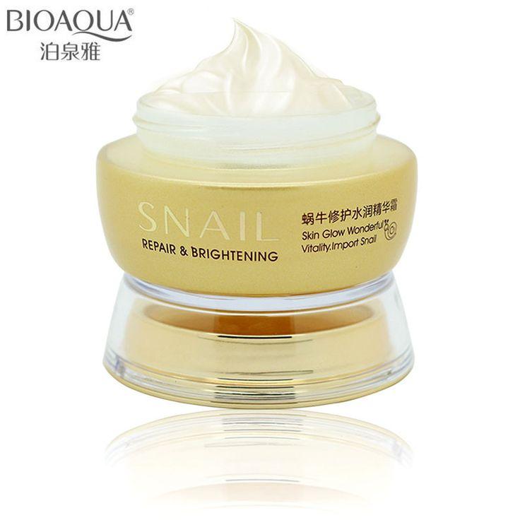 BIOAQUA Brand Skin Care Snail Moisturizing Face Cream Deep Whitening Hydrating Anti-Aging Anti Wrinkle Day Cream 50g