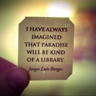 Paradise will be kind of a library