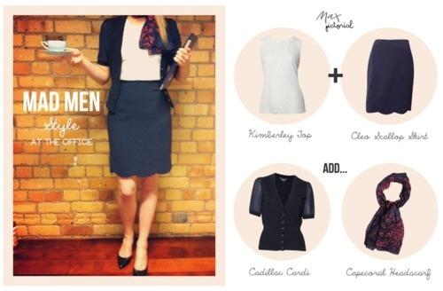 Max Pictorial... Mad Men Style at the Office www.maxshop.com