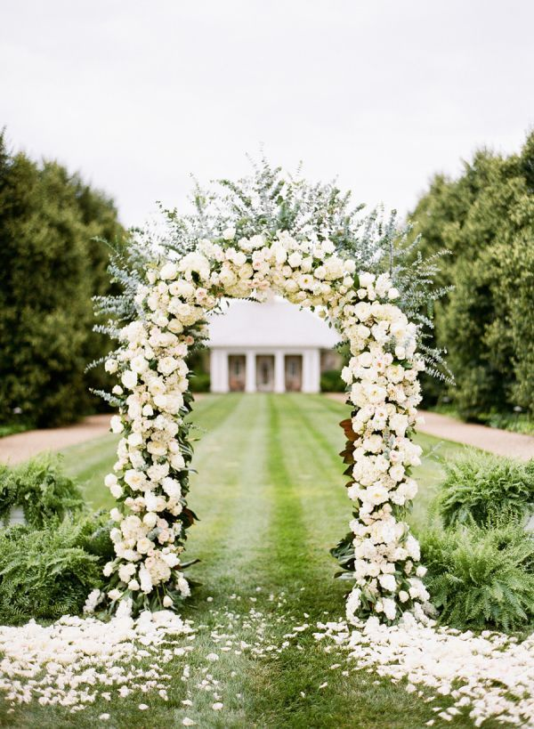 Rose wedding arch