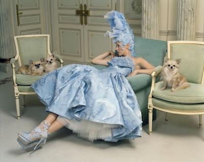 Kate Moss.  Tim Walker for Vogue #blue