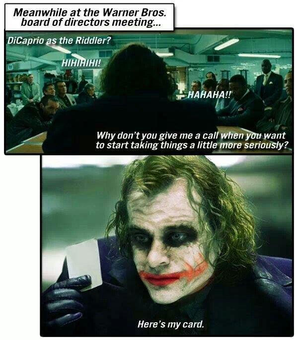 Joker ~ Here's my card | Geek Chic | Pinterest Leonardo Dicaprio