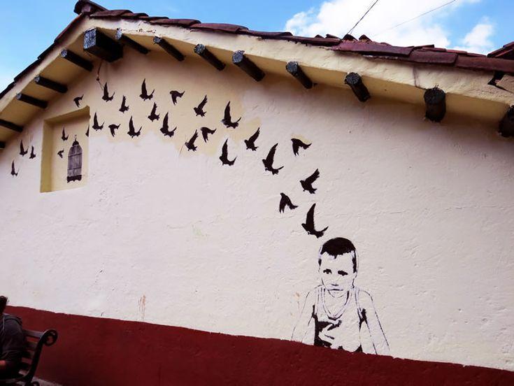 Mural en una casa al lado de la Ermita de San Miguel del Príncipe