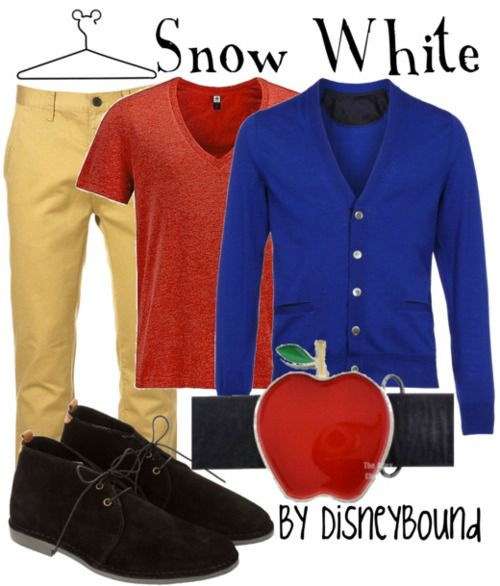 A Snow White look for Men. I actually really love this look. I have a few friend I can see wearing this.
