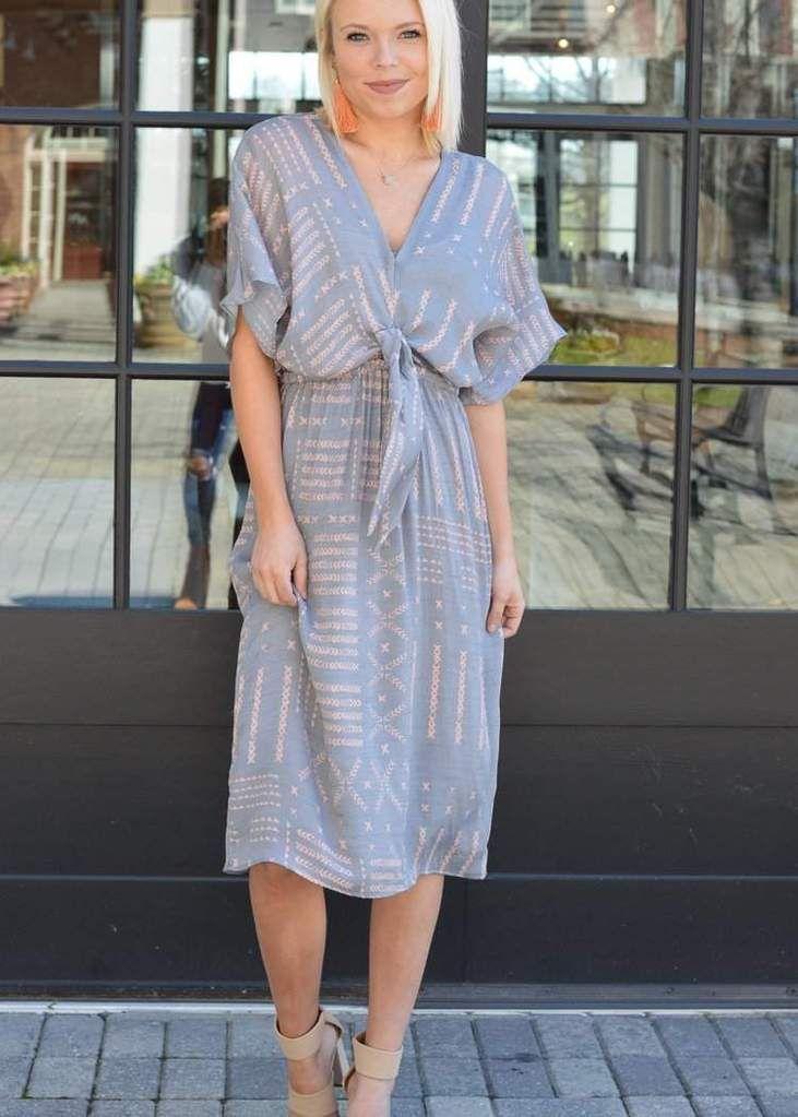 eb8f81037e9a Sam   Lavi Annie Batik Print Tie Front Midi Dress  shopsmall  shoplocal   shopatl  handinpocket